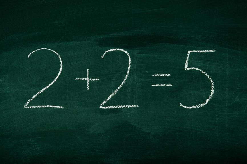 Mistake in math on chalkboard