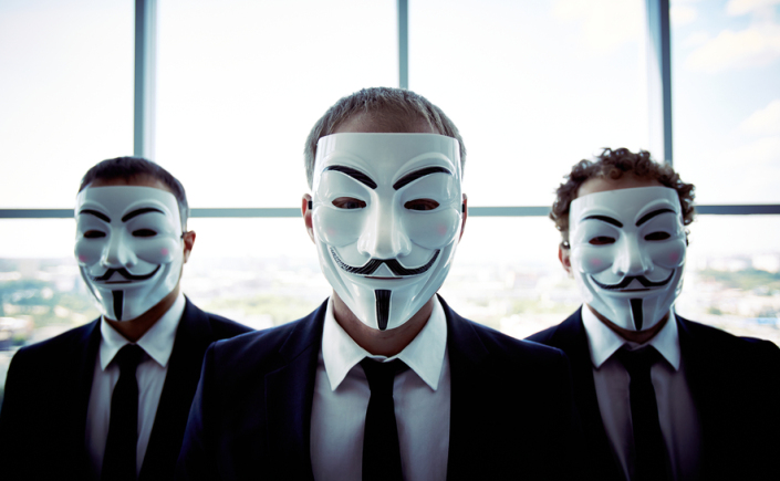 Anonymous businessmen