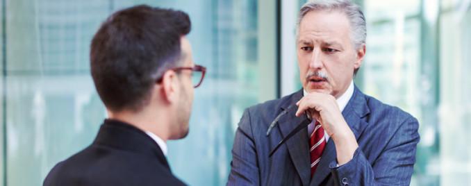 серьезный разговор с руководителем