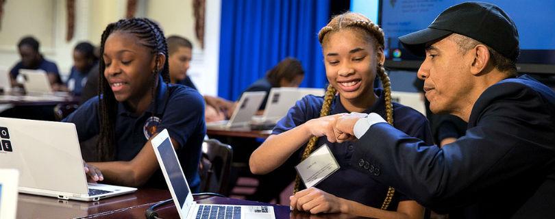 Обама сделает информатику главным предметом для американских школьников