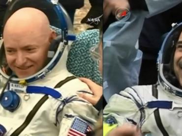 Астронавты NASA успешно вернулись на Землю после года в космосе (фото)