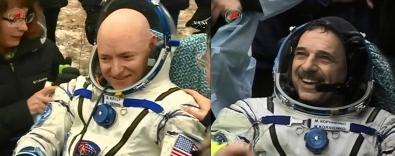 Астронавты NASA вернулись на Землю после года в космосе