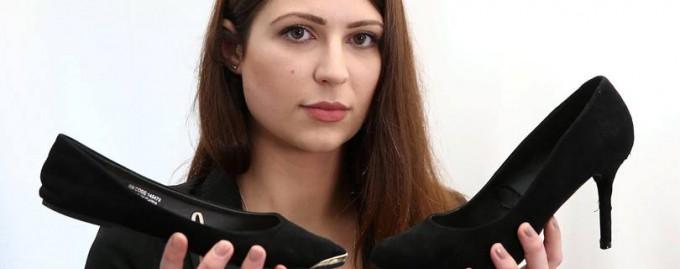 В Великобритании сотрудницу отправили домой из-за «неправильной» высоты каблука