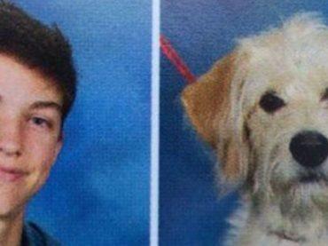 Служебная собака попала в школьный фотоальбом вместе со своим хозяином