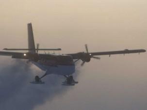 Самолет Twin Otter успешно слетал на Южный полюс, чтобы забрать больных сотрудников