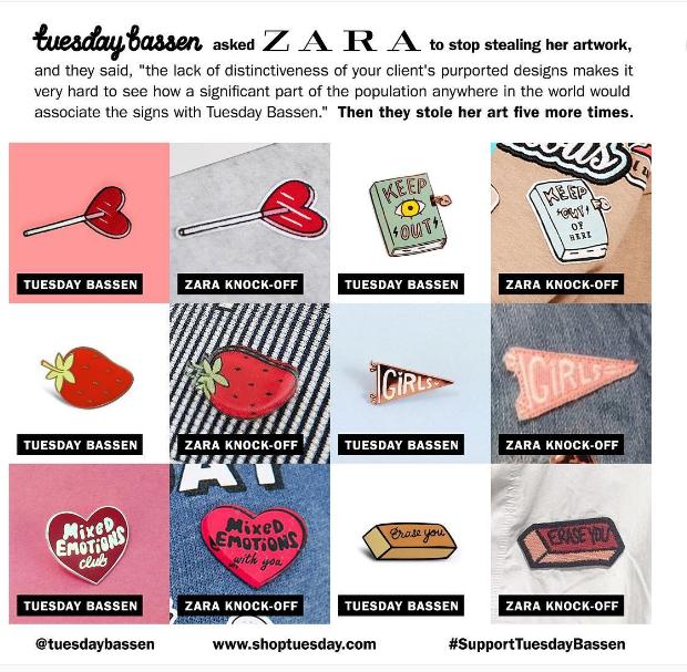 Инди-иллюстратор поймала торговую марку Zara на плагиате