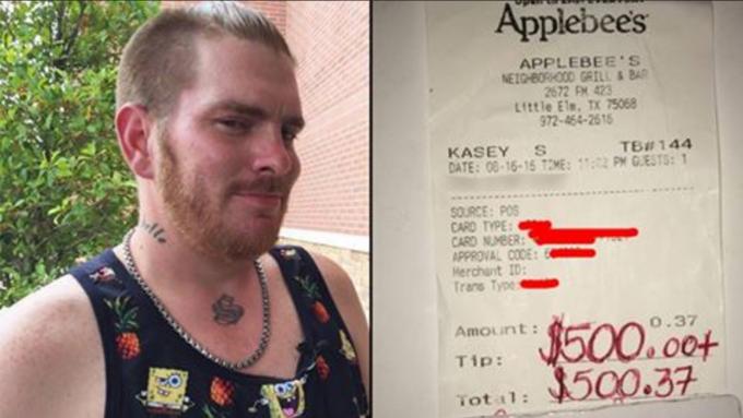 Официант получил $500 чаевых за акт доброты