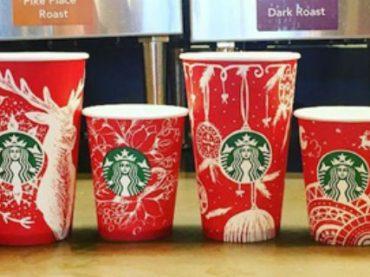 Украинка украсила чашки Starbucks петриковской росписью