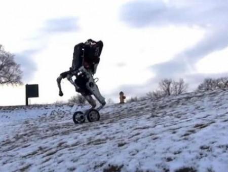 Boston Dynamics показали прыгающего робота на колесах
