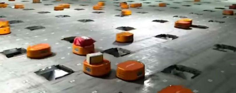 Китайская компания заменила складских рабочих армией роботов