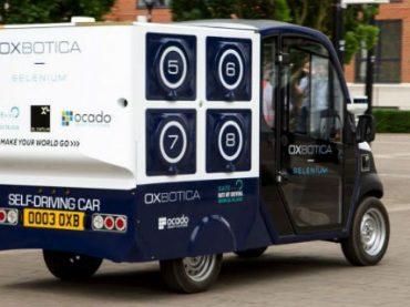 В Лондоне развозку продуктов поручили фургонам-беспилотникам