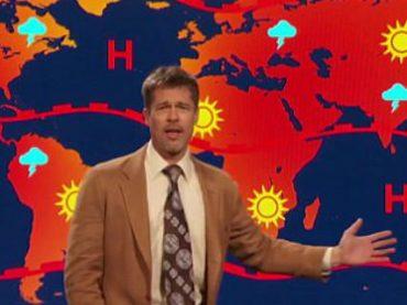 Брэд Питт провел прогноз погоды, чтобы рассказать Трампу о глобальном потеплении