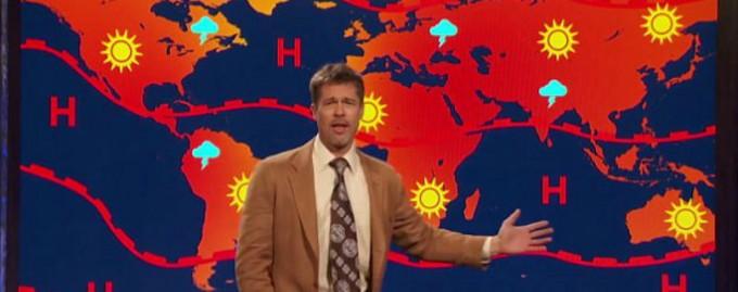 Брэд Питт стал метеолорогом, чтобы рассказать Трампу о глобальном потеплении