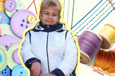 Днем торгует на рынке, вечером рисует одежду: история украинки, которая начала «фрилансить» в 52 года без знания компьютера и английского
