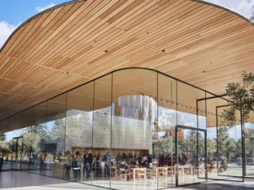В новом кампусе Apple открыли гостевой центр (фото)