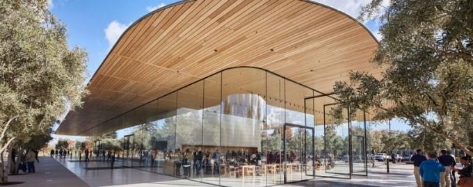 В новом кампусе Apple открыли гостевой центр