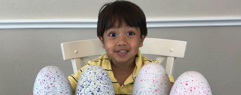 6-летний ребенок зарабатывает на Youtube $11 млн в год