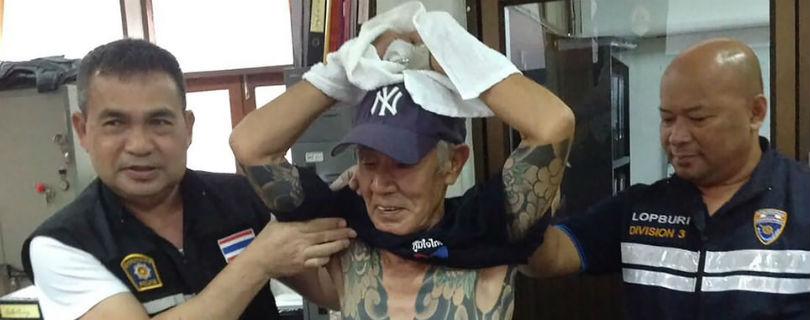 Отставного якудзу опознали в Таиланде по татуировкам