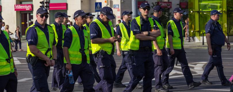 В польском городе все полицейские устали и ушли на больничный